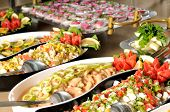 picture of catering  - Catering food at a wedding party  - JPG