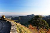 Shenandoah National park at the fall: a mountain view poster