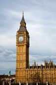 stock photo of big-ben  - Big Ben and Houses of Parliament - JPG
