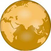 picture of eastern hemisphere  - globe - JPG