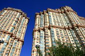 picture of row houses  - Blue sky - JPG