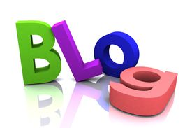 foto of blog icon  - Large 3D Rendered Letters creating a fantastic fun blog image - JPG