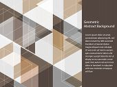 Beautiful Classic Black, Grey, Brown And White Polygon Shape In Minimal Modern Trendy Geometric Conc poster