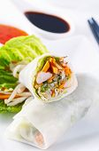 picture of lumpia  - spring rolls with vegetables and chicken - JPG