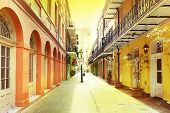 A Quiet Pedestrian Street In New Orleans French Quarter poster