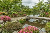 Idyllic Landscape Of Japanese Garden Kenrokuen In Kanazawa, Japan poster