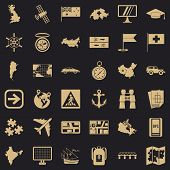 Navigation Icons Set. Simple Style Of 36 Navigation Vector Icons For Web For Any Design poster
