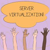 Writing Note Showing Server Virtualization. Business Photo Showcasing Allow For More Than One Server poster