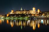 The Royal Wawel Castle As Seen From Another Bank Of Vistula. Krakow Is The Most Famous Landmark In P poster