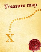 pic of treasure map  - treasure map with a vintage touch upon it - JPG
