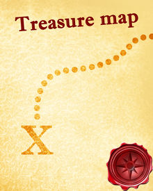 image of treasure map  - treasure map with a vintage touch upon it - JPG