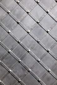 foto of stelles  - Texture of metal black stell for background - JPG