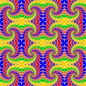 Design Seamless Multicolor Abstract Pattern.  Whirl Elements Twisting Background