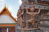 Statue Of Giant At Wat Arun (temple Of Dawn)