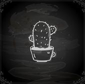 pic of peyote  - Cute Hand Drawn Vector illustration - JPG
