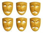 picture of emotions faces  - The three - JPG