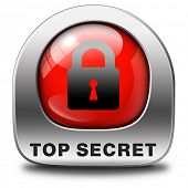 top secret icon confidential and classified information private info and privacy property or informa