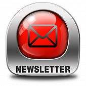 Latest newsletter with hot breaking daily news facts. Icon, button or sign with new items.