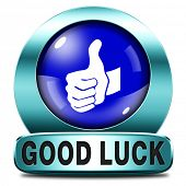 good luck blue icon or fortune button, best wishes wish you the best of luck