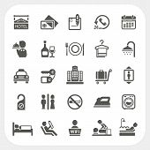image of toilet  - Hotel and Hotel Services icons set isolated on white background - JPG