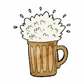 cartoon frothy beer