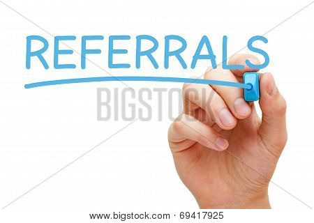 Referrals Blue Marker poster