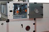 foto of ventilator  - Air handling units in central ventilation system - JPG