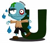 picture of walking dead  - the letter u for the word undead - JPG
