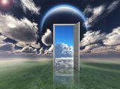 image of fantasy world  - Doorway into other world - JPG