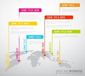 stock photo of flags world  - Light World map with pointer marks  - JPG