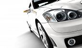 image of luxury cars  - A modern and elegant white car on a white background - JPG