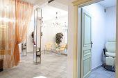 image of beauty salon interior  - brand new interior of european beauty salon - JPG