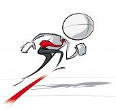 picture of going out business sale  - Sparse vector illustration of a of a generic Business cartoon character starting a race - JPG