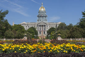 foto of granite dome  - Golden Dome of Colorado State Capitol Building in Denver - JPG