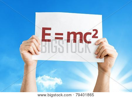 E = mc2 card with