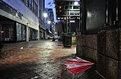 pic of memphis tennessee  - An abandoned umbrella on the sidewalk of downtown Memphis - JPG