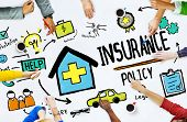 stock photo of insurance-policy  - Diversity Casual People Insurance Policy Meeting Concept - JPG