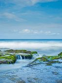 picture of tanah  - The sea at the Tanah Lot temple - JPG