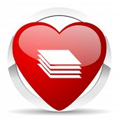 stock photo of gage  - layers valentine icon gages sign  - JPG