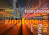 Ringtone Word Cloud Glowing