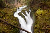 foto of olympic mountains  - Sol Duc falls Olympic national park WA US - JPG