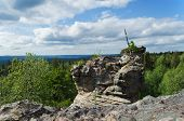 pic of ural mountains  - Unusual rock  of mountain in the afternoon - JPG