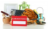 foto of yard sale  - Unwanted things ready for a garage sale - JPG