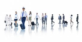 pic of cabin crew  - Travel Business People Cabin Crew Trip Flight Concept - JPG