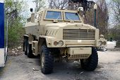 picture of military personnel  - This armored personnel carrier is owned by the Joliet - JPG