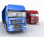stock photo of semi  - Trucks with semi - JPG
