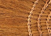 image of broom  - Background from a new home sorgo broom - JPG