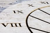 image of sundial  - sundial that marks the time with the help of the shadow - JPG