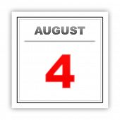 image of august calendar  - August 4 - JPG