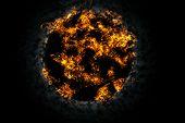 stock photo of nuke  - Explosion fire ball in the dark - JPG